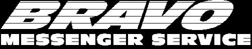bravo messenger service logo in white